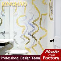 [KINGHAO]Popular bisazza gold mosaic pattern design Festoon for TV wall tile background mosaic tile