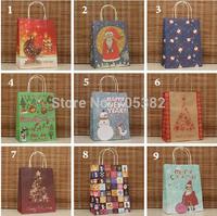 Christmas series paper gift bag with handle, 27x21x11cm, Fashionable christmas bag, Wholesale price (tt-1331)