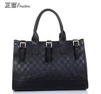 Fashion Designer Black Mango Plaid Shouder Bag Women PU Leather Handbag Bucket Messenger Tote Vintage Elegant Bags Free Shipping