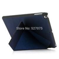 PU Leather Case For iPad5 Air,shelf Folding Stand Leather Case Cover For iPad Air,free shipping