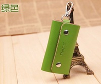 Free shipping leather key bag lady key chain Men's waist hanged key package Promotional gifts