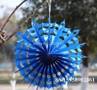 20pcs/lot  Snowflake fan paper flower wedding party decoration kindergarten background colorful garland honeycomb 3 size
