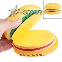 EMS Shipping 100pcs Creative Notes Delicious Hamburger Image School Office Stationery Memo Notepad 3 Colors Pads Memo Pad