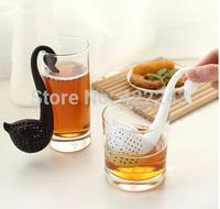 swan swan Design Loose Tea Leaf Strainer Herbal Spice Infuser Filter Tools Tea Leaf Strainer