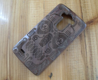 For LG G3 New Real Genuine Handmade Natural Bamboo Wood Wooden Hard Case Cover Mask Totem Design on Walnut Wood!Free Shipping!
