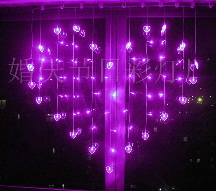 1 x 1 m Heart Shape 59 SMD 22 Hearts Multicolor LED String Holiday Light Christmas Wedding Decoration Curtain lamp EU/US/UK/AU(China (Mainland))