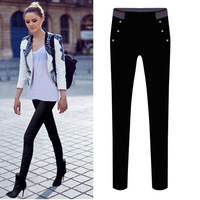 Cool Winter Thick Warm Skinny Pants Mutli Choose Elastic Waist Cotton Pencil Trousers Street Casual High Waisted Capris 2088