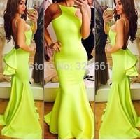 New Women Long Evening Dress Elegant Vestido De Festa Celebrity Party Prom Dresses Free shipping