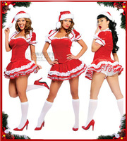 Explosion models Christmas Santa suit uniform temptation club KTV DS leading the dance costume princess costumes