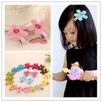 Wholesale 100pcs Glitter Flower with Rhinestone Center Hair Clips for Baby Girl Toddler Teen and Adult Beautiful Hair Accessory