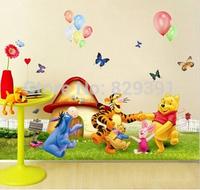 Hot selling Children's room wall kawaii cartoon animal design Wall Sticker,decoration stickers,wholesale(tt-2001)