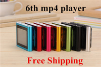 Big Promotion 6TH clip mp3 MP4 player 32GB 1.8inch FM radio, TEXT reader, Audio recorder hot sale NEW free shipping 500sets/lot
