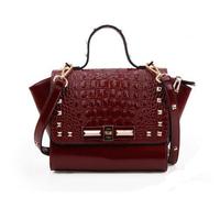 Women handbags Crocodile rivet genuine leather bags women's shoulder Bag casual bags women leather handbag ladies bags 8083