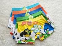 Free shipping 6pcs/lot baby boy cotton underwear kids cartoon panties cute birds boys boxer briefs children fashion underpants