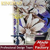 [KINGHAO]elegant glass mosaic gold mosaic tile crystal glass mosaic tile bathroom wall decoration similar bisazza CP1015