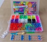 4400 pcs Multicolored DIY adjustable Rubber Band Bracelet PVC Making Kit Funny Educational Children toys Christmas gift for kids