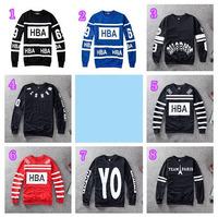 DI-27 HBA sweatshirt MISSHV Team Paris Casual Fashion Clothing Mens hoodies and sweatshirts Sport Hip hop sweatshirt Fleece