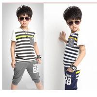 2014 Conjunto De Roupa Clothing Sets Meninas Vestir Children Kids Summer New Children's Sports Short Suit In Korean Sportswear