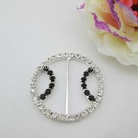 (FL757 inner bar 40mm)20 pcs round rhinestone buckle for wedding invitation card