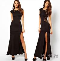2 Fashion Lace Evening Dress For Women party dresses Celebrity Summer dress 2014 sexy wedding dress blusas femininas vestidos