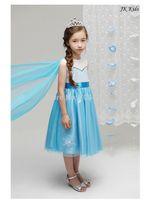 1 set free shipping Girl Summer Lace  Ball Gown Dress Frozen Princess Mesh Cloak Party Satin Knee-Length Dress