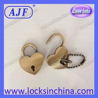AJF  2014 popular lover  heart shape pad lock  AJF brand A01-001AB
