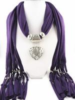 3Pcs/Lot  Fashion new design women jewelry scarf   heart pendant scarf Free shipping