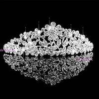 Wedding jewelry diamond flower head yarn butterfly wedding accessories bridal crown female hair accessories