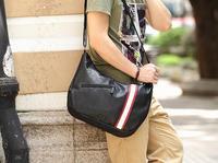 New Fashion Unique Designer Mens Large Leather Korean Casual Messenger Bags Shoulder Bag School Travel Bookbag Sling Bag