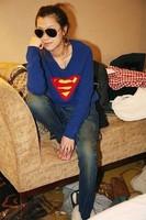 Clearing the new Superman Fleece Hoodie sleeve cute cartoon Hoodie