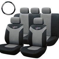 TirolT21474  a 10 Pieces/Set Universal Car Seat Covers New Gray Front Rear Cover For Crossovers SUV Sedans Free Shipping
