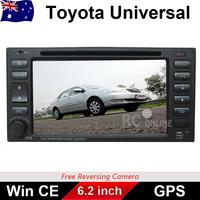 TOYOTA GPS CAR DVD Player Stereo RAV4 Landcruiser PRADO Camry MR2 HIACE HILUX ARM11 CPU BT, DVD IPOD, Free reverse camera