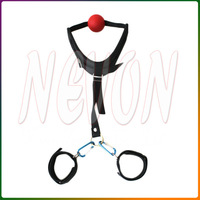 TOUGHAGE Wrist & Mouth Cage Balls Body Straps Sex Toys-C408 Sex Furniture, Adult Erotic Sex Products