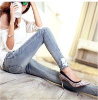New Arrival 2014 Brand Low Waist Women Straight Jeans Slim Pencil Skinny Denim Fashion Casual designer denim jeans Pants