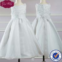 Goingwedding Tank Sleeveless Flower Details Bodice Organza Princess Flower Girl Dress HT047