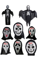 Wholesale 10pcs/pack mixed styles 2014 New halloween mask scary plastic masks for adults children grimace mask free shippingP016