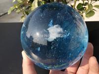 001238  BLUE SMELT QUARTZ CRYSTAL SPHERE BALL + STAND