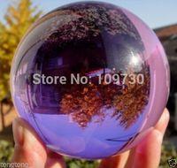 001236 Asian Rare Natural Quartz Purple Magic Crystal Healing Ball Sphere 100MM + Stand
