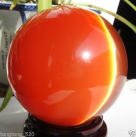 001242 AAA+++ Hot Sell ASIAN QUARTZ RED CAT EYE CRYSTAL BALL SPHERE 100MM + STAND