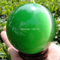 001241 AAA+++ Hot Sell ASIAN QUARTZ GREEN CAT EYE CRYSTAL BALL SPHERE 80MM + STAND