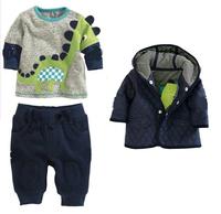 Brand NEW children's Winter Clothing Sets Dinosaur Design Thick Warm Children  Boys Clothes