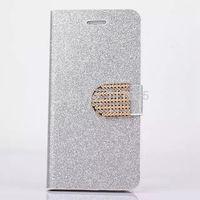 Glittering Flip Wallet Case Pouch Purse Designer Diamond Cases for Iphone 6 Bulk 200pcs Free Shipping