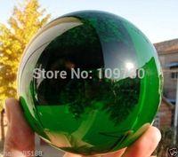 001235 Asian Rare Natural Quartz Green Magic Crystal Healing Ball Sphere 110MM+Stand