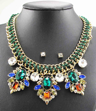 Newest handmade popular Gorgeous Fashion Necklace Jewelry crystal Department Statement Necklace Women Choker Necklaces Pendants