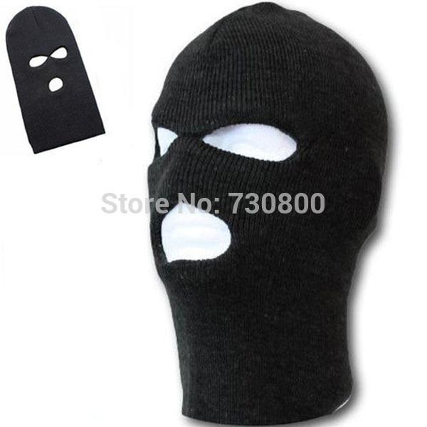 High Quality 2pcs Unisex Women Men Winter Warm Full Face Cover SAS CS Ski Snowboard Mask Beanie Hat Cap BALACLAVA Mask(China (Mainland))