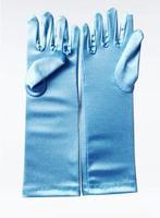 2014 New Frozen Elsa Gloves for baby girls Evening Dress Frozen Elsa Sky Blue Luva Gloves Girl Winter Long Sleeve tactical Glove
