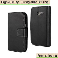 High Quality Magnetic Wallet Flip Leather Case Cover For Samsung Galaxy Trend Lite S7392 Free Shipping DHL EMS UPS HKPAM CPAM