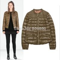2014 women's Short stylish temperament thin down jacket free shipping