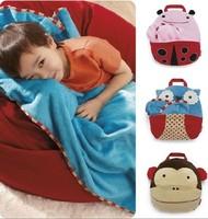 Children's Cute Cartoon Animals Blankets Baby Travel Bags Owl/Ladybug/Monkey Bathrobes Kids Swaddling 105*85CM