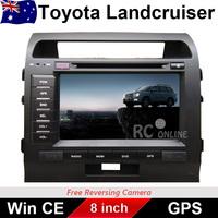 8.0 inch Car DVD PLAYER GPS Stereo For TOYOTA LANDCRUISER 200 series 2007-2013 ARM11 CPU BT IPOD DVD RADIO FREE REVERSE CAMERA